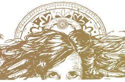 Złoty Anioł - Linoryt 70x33cm