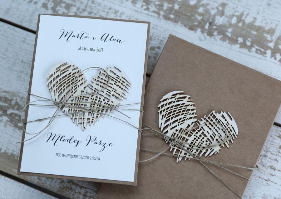 kartka ślubna z personalizacją i pudełkiem1 - stylowa kartka ślubna z personalizacją