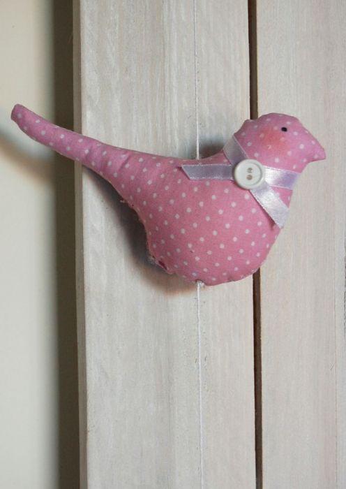 Girlanda - różowe ptaszki