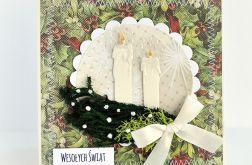 Świąteczny stroik - kartka