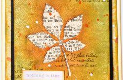 Kartka z jesiennym liściem
