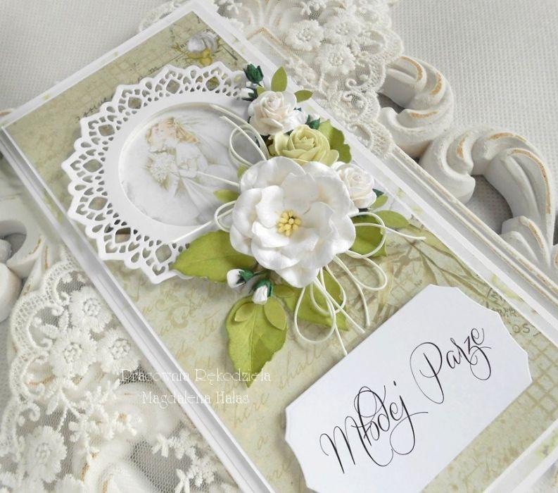 Ślubna kartka DL w pudełku 63