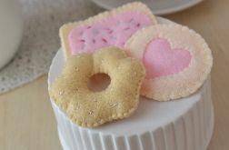 Ciasteczko kruche z cukrem / Słodycze z filcu