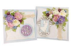 Komplet ślubny - kartka + pudełko - #675