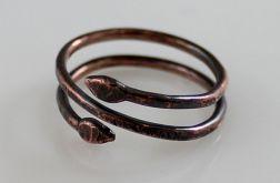 Wężyk - miedziany pierścionek 190410-04