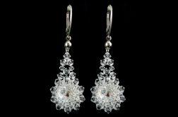 Kolczyki ślubne Swarovski Crystal