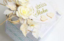 Miętowo-szary box na ślub