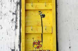 Wieszak na klucze z żyrafą
