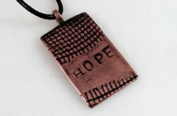 Hope - miedziany wisiorek 201126-02