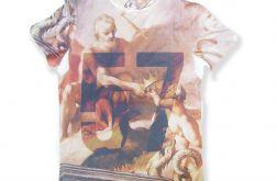 Koszulka xxl z nadrukiem fresk