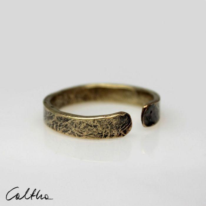 Mosiężna obrączka rozm. L 190901-02 - Regulowany pierścionek
