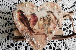 Serce z ptaszkami