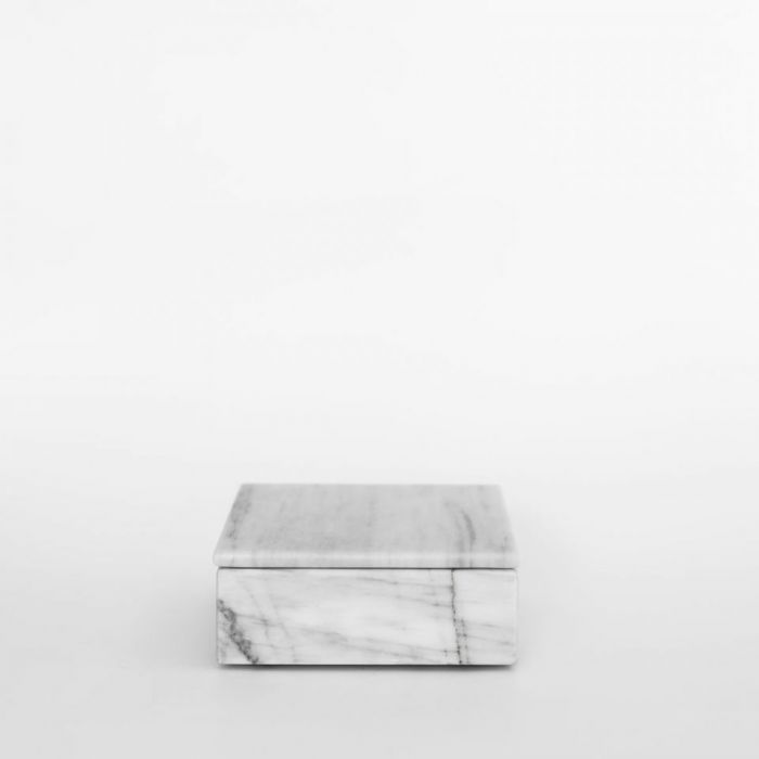Taca marmurowa puzderko szkatułka Bianco