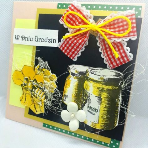 Kartka dla pszczelarza #1 pszczoły miód