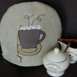 Lniana herbatka - ocieplacz na czajnik