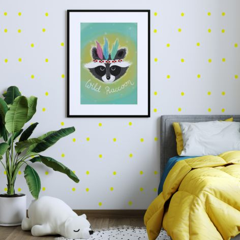 Plakat Wild Raccoon