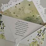 Kartka ślubna kopertówka floral V - życzenia