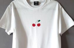 Koszulka ręcznie malowana wisienki
