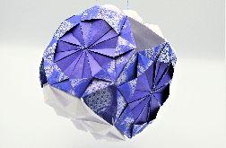 Bombka origami kusudama z papieru ornament