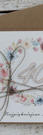 Kartka urodzinowa na 40 urodziny