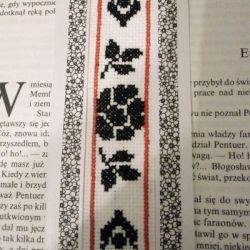 Zakładka do książki -bookmark- czarne kwiaty