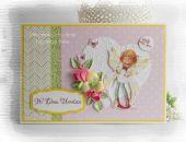 Kolorowa kartka dla dziecka z elfikiem