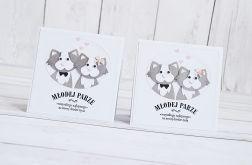 Kartka ślubna dla młodej pary Kotów