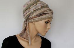 letni turban BEŻOWY