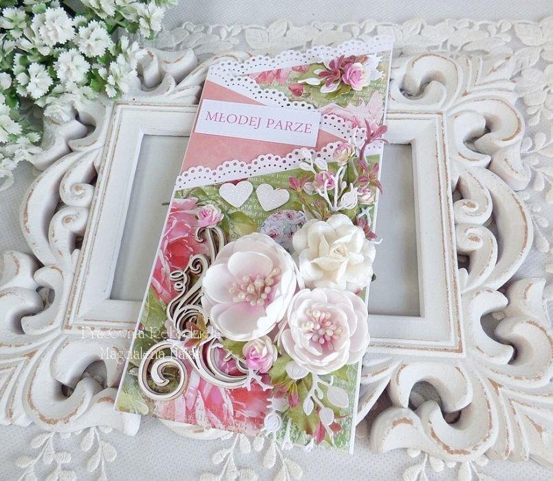 Ślubna kartka kaskadowa w pudełku 451 -