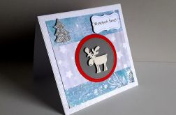 Kartka Boże Narodzenie handmade łoś
