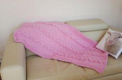Dywan w warkocze - różowy