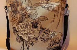 Torebka damska torba worek eko popiel kwiat