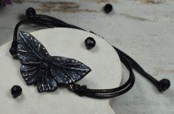 """Regulowana bransoletka """"czarny motyl"""""""