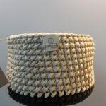 Koszyk na drobiazgi ze sznurka Karmel - Koszyk idealnie się sprawdza na drobiazgi, kosmetyki lub leki.