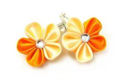 pomarańczowo-kremowe mini spinki