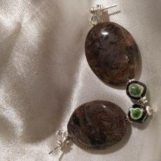 Kolczyki mocy z jaspisu i srebra
