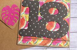 18-te urodziny : kartka na osiemnastkę OWOCE