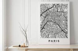 Plakat mapa paryża #32 50X70 B2