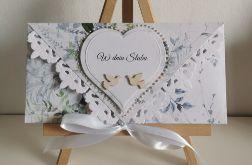 Kartka ślubna kopertowa kopertówka w dniu Ślubu