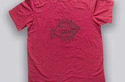 Bordowa koszulka XL z rybą-Fish 1
