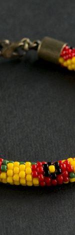 Bransoletka koralikowa w maki 03.