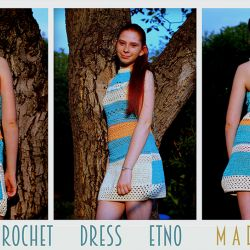 SUMMER DRESS ETNO / dzianinowa tunika
