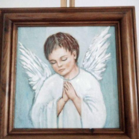 Obrazek- modlący chłopiec