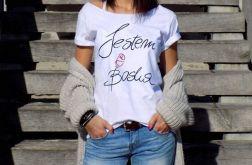 "t-shirt luźny ""JESTEM BOSKA"""