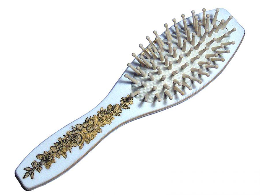 BIAŁO-ZŁOTA - szczotka do włosów