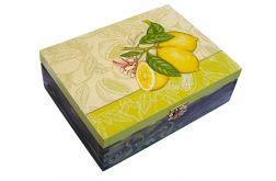 Pudełko na herbatę Cytryny