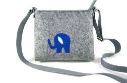 Mini bag with blue elephant