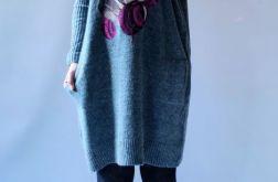 Luźna sukienka oversize z kieszeniami 02