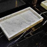 Taca z marmuru Bianco Carrara 25 x 10cm