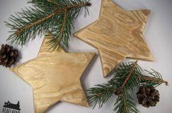 Drewniane podkładki gwiazdki złote